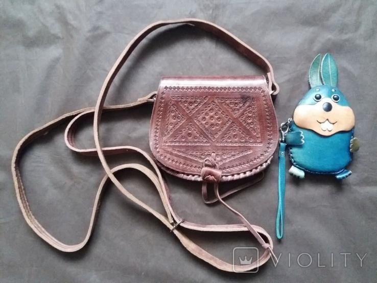 Кожаная сумка + кошелек, фото №2