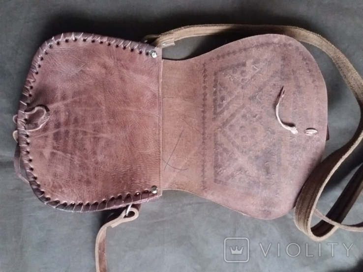 Кожаная сумка + кошелек, фото №4