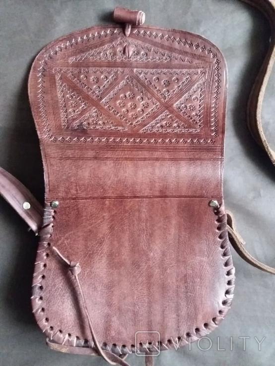 Кожаная сумка + кошелек, фото №5