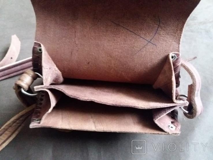Кожаная сумка + кошелек, фото №9
