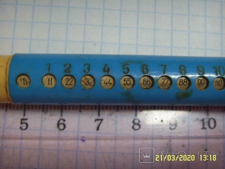 Ручка с таблицей умножения из СССР. На реставрацию., фото №3