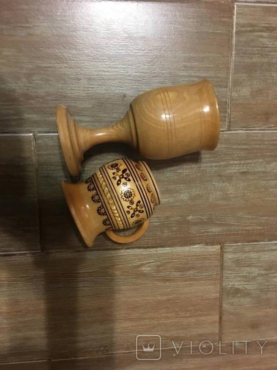 Бокал и кружка резная из дерева 90тые Крым, фото №11
