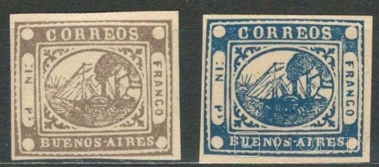 И04 Аргентина (Буэнос-Айрес) 1858, новоделы 1893 г.