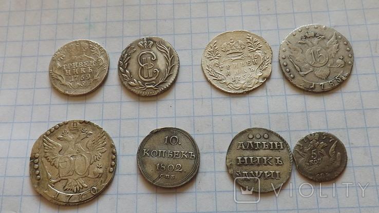 8 серебренных монет. Копии., фото №3