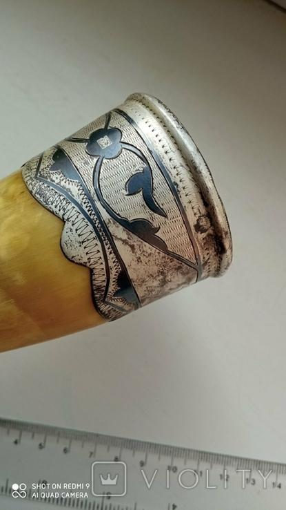 Рог изобилия серебро 875, фото №3