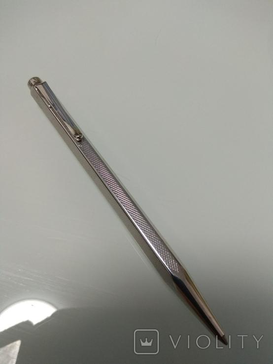 Срібна колекційна ручка Швейцарської фірми CARAN d' ACHE, фото №3