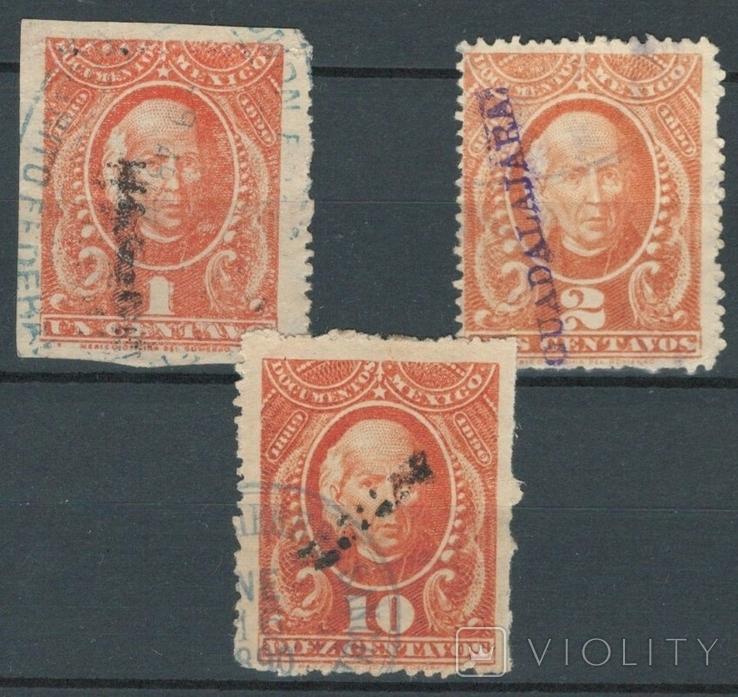 Е04 Мексика 1889-1890, налоговые марки