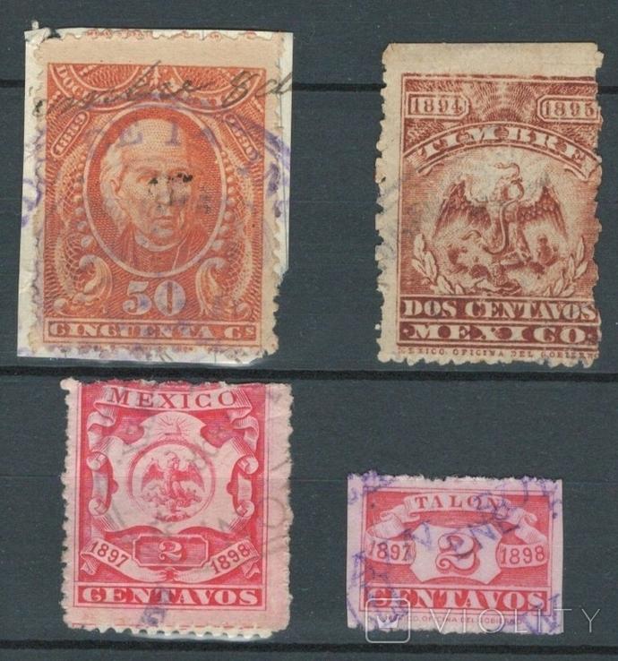 Е06 Мексика 1889-1897, налоговые марки