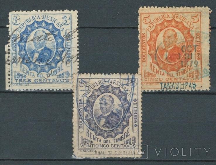 Е09 Мексика 1879, налоговые марки