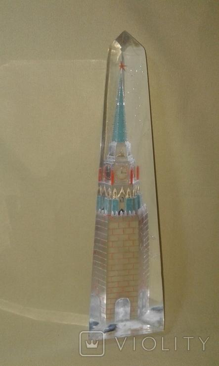 Спасская башня. Оргстекло., фото №2