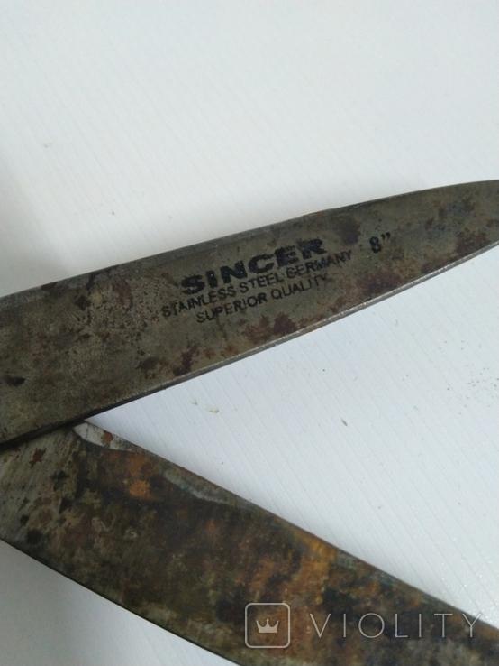 Большие старинные ножницы, фото №6