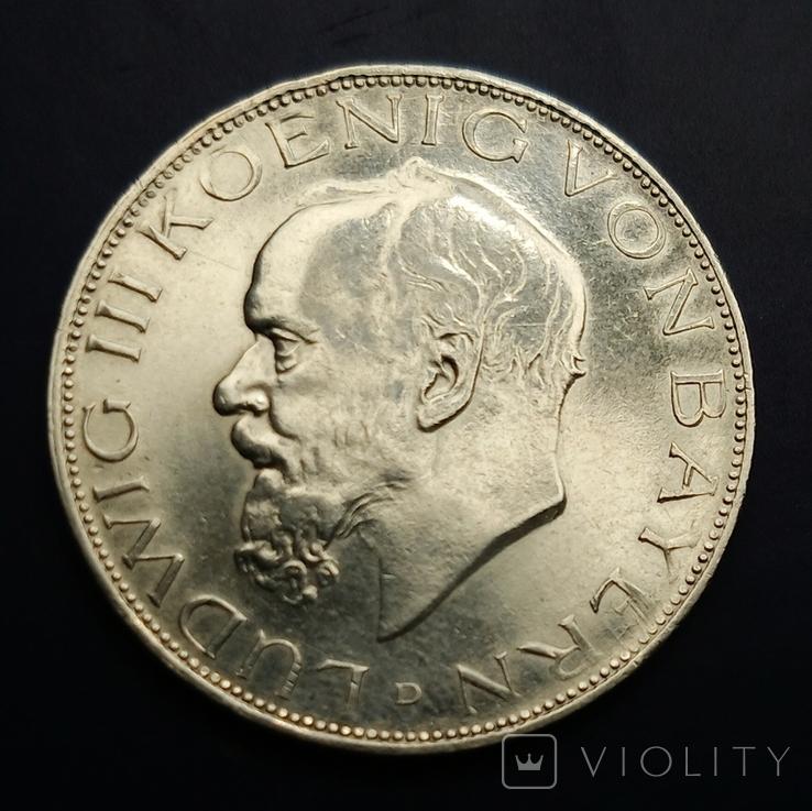 3 марки 1914 р. Баварія. Людвіг, фото №2