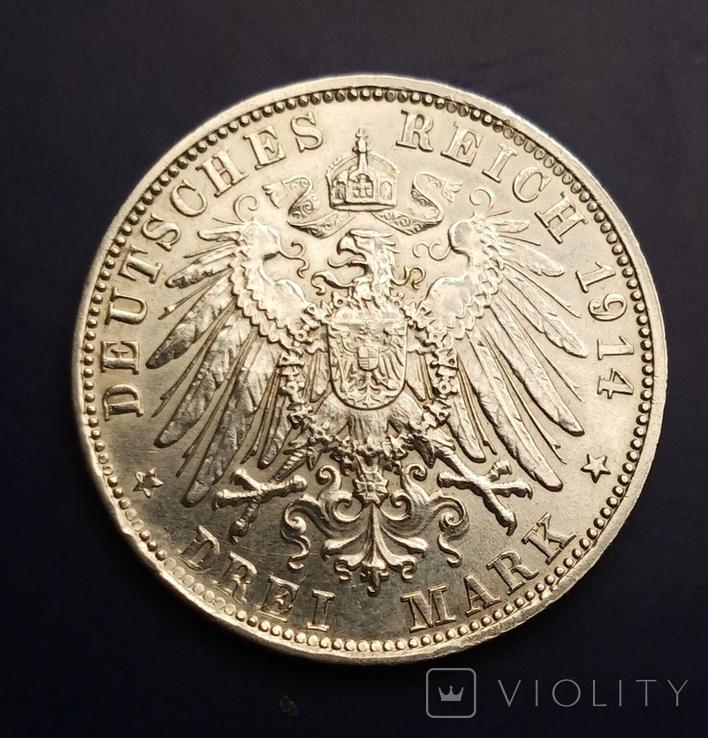 3 марки 1914 р. Баварія. Людвіг, фото №5