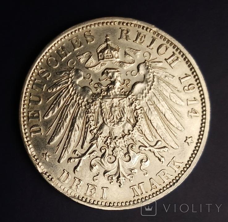 3 марки 1914 р. Баварія. Людвіг, фото №6
