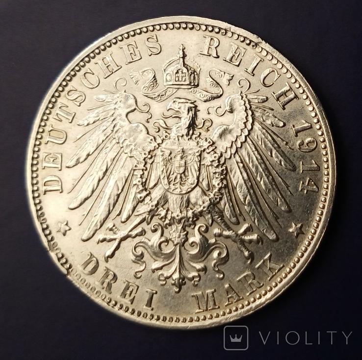 3 марки 1914 р. Баварія. Людвіг, фото №7