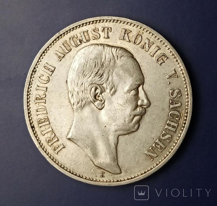 5 марок 1908 р. Саксонія. Фрідріх Август, фото №7