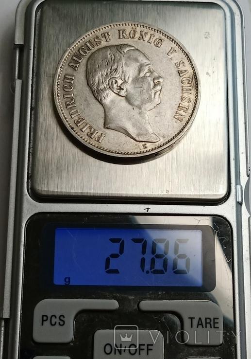 5 марок 1908 р. Саксонія. Фрідріх Август, фото №11