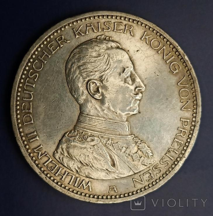 5 марок 1913 р. Вільгельм ІІ в мундирі, фото №4