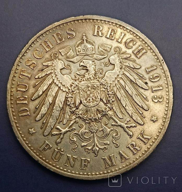 5 марок 1913 р. Вільгельм ІІ в мундирі, фото №5
