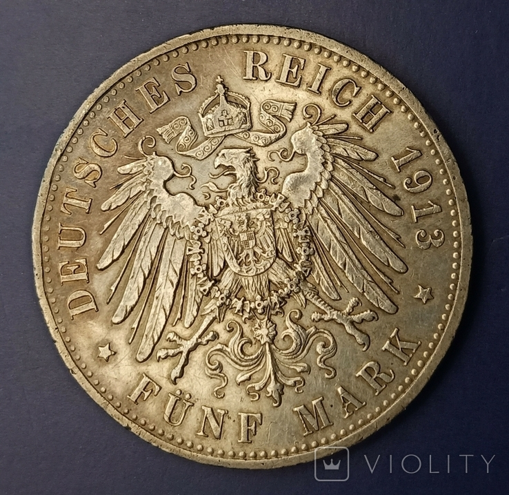 5 марок 1913 р. Вільгельм ІІ в мундирі, фото №7