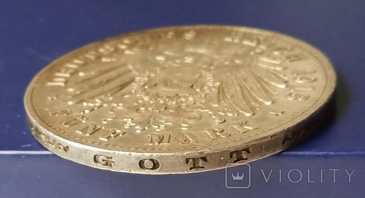 5 марок 1913 р. Вільгельм ІІ в мундирі, фото №8