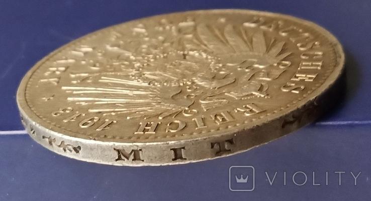 5 марок 1913 р. Вільгельм ІІ в мундирі, фото №10