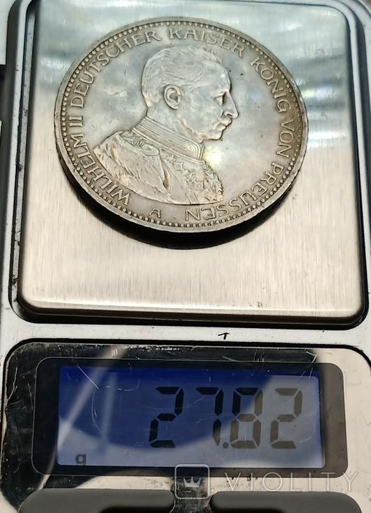 5 марок 1913 р. Вільгельм ІІ в мундирі, фото №11