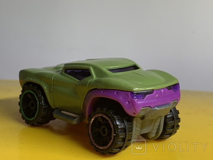 Hot Wheels Marvel Series, Green Hulk Car BDM76 2013 Pre-owned Excellent Mattel, фото №5