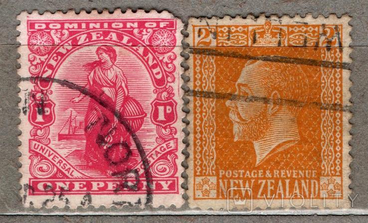 Брит.колонии. Новая Зеландия. 1909, 1916 гг., фото №2