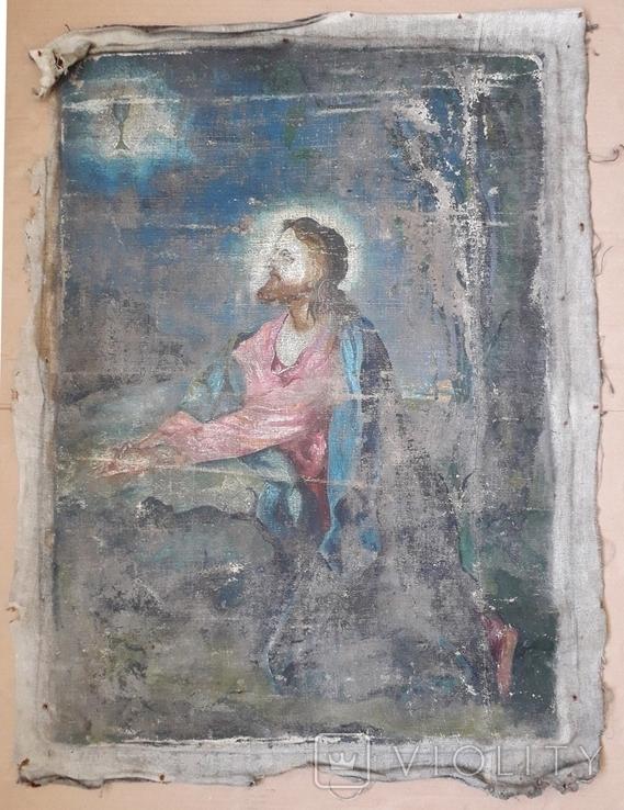 Икона на Холсте 80 см х 61 см под Реставрацию, фото №2