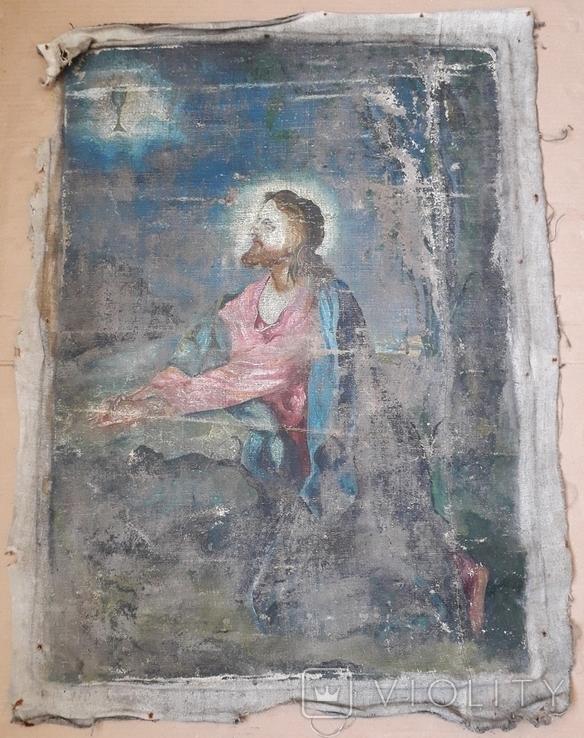 Икона на Холсте 80 см х 61 см под Реставрацию, фото №4
