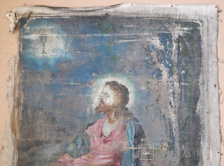 Икона на Холсте 80 см х 61 см под Реставрацию, фото №5