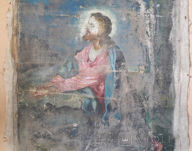 Икона на Холсте 80 см х 61 см под Реставрацию, фото №6