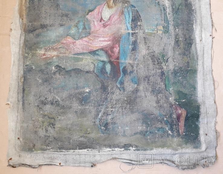 Икона на Холсте 80 см х 61 см под Реставрацию, фото №7
