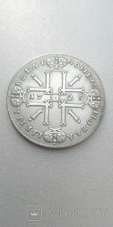 1 рубль 1725 год Петр 1 Крестовик ОК Копия тип 1, фото №3