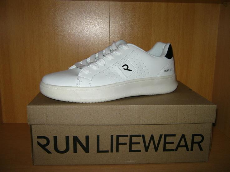 Мужские белые кроссовки run lifewear с перфорацией кеды на толстой подошве новые., фото №2