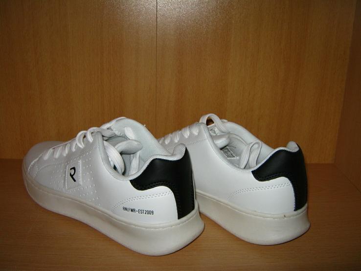 Мужские белые кроссовки run lifewear с перфорацией кеды на толстой подошве новые., фото №4