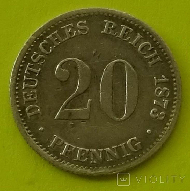 20 пфенигов, 1873 год, FF., фото №3