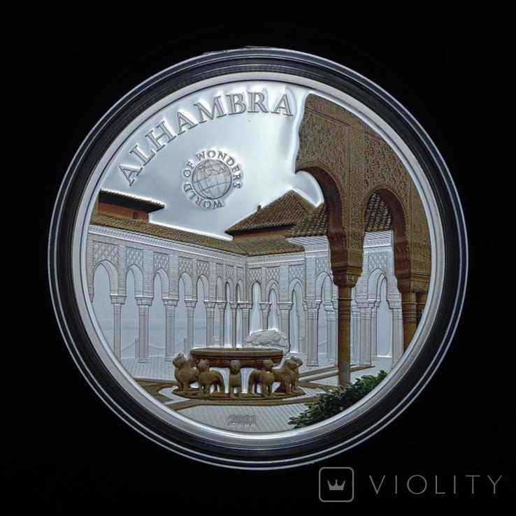 5 Долларов 2013 Чудеса Света - Альгамбра, Палау, фото №2