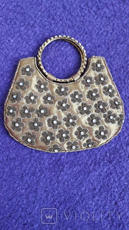 Декоративна сумочка з камінцями., фото №3