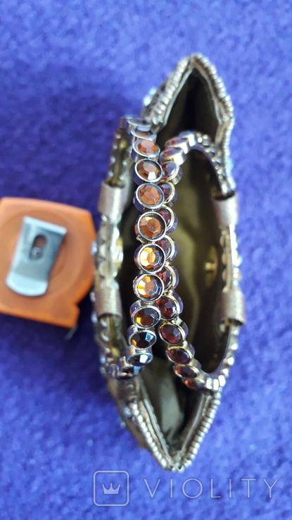 Декоративна сумочка з камінцями., фото №4
