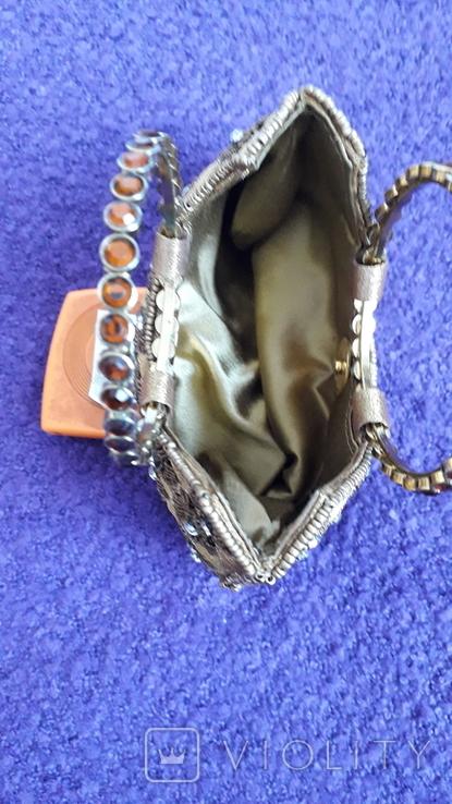 Декоративна сумочка з камінцями., фото №6