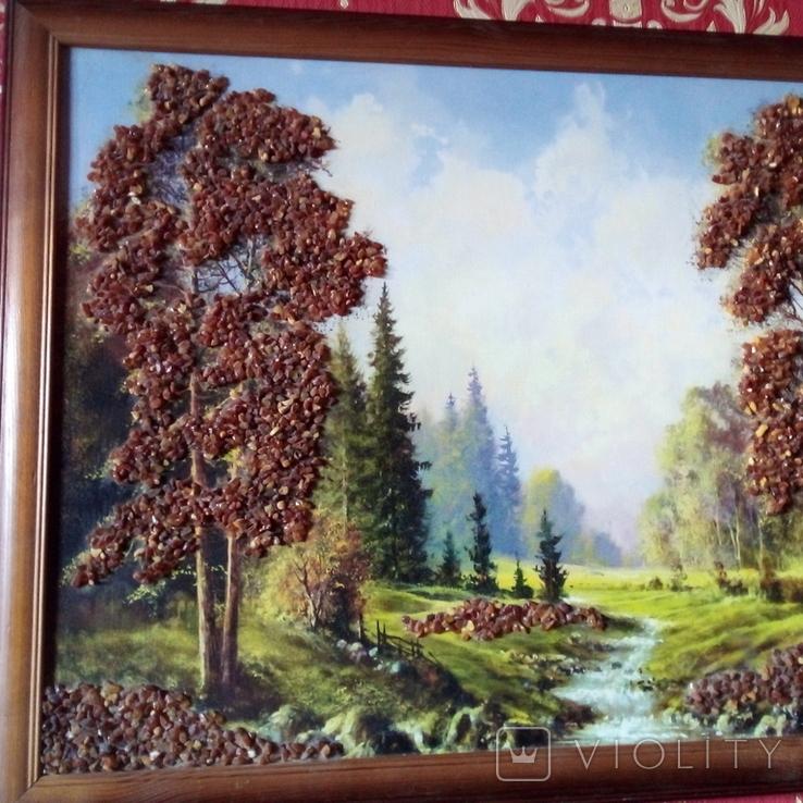 Картина с использованием натурального янтаря, фото №6