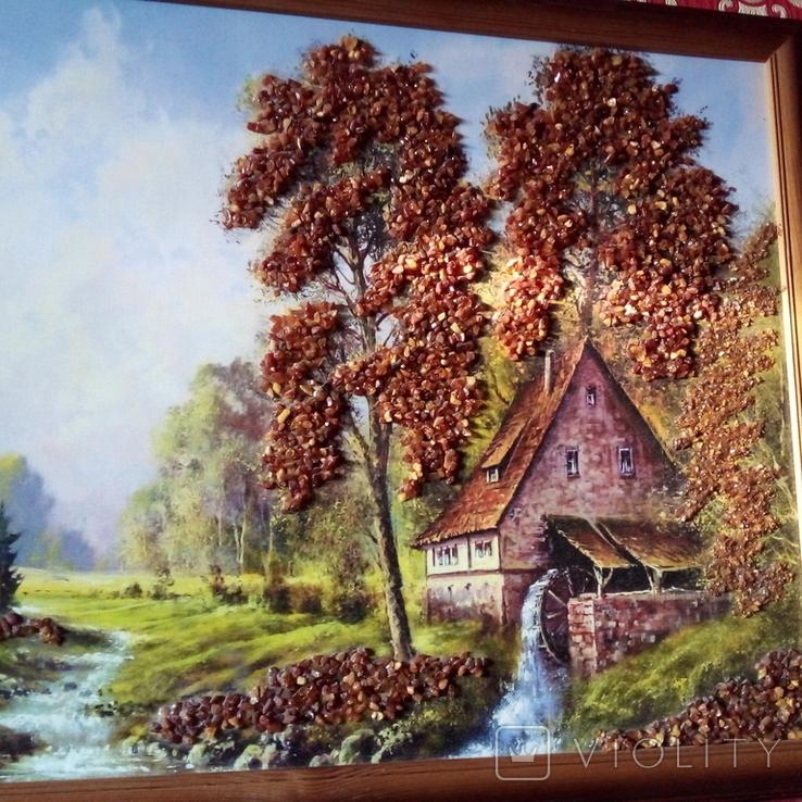 Картина с использованием натурального янтаря, фото №7