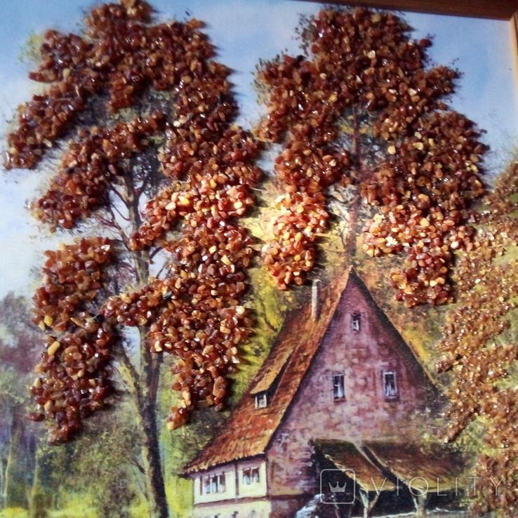 Картина с использованием натурального янтаря, фото №8