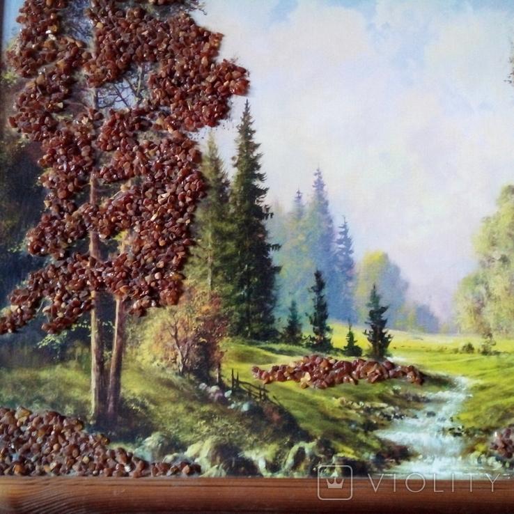 Картина с использованием натурального янтаря, фото №10