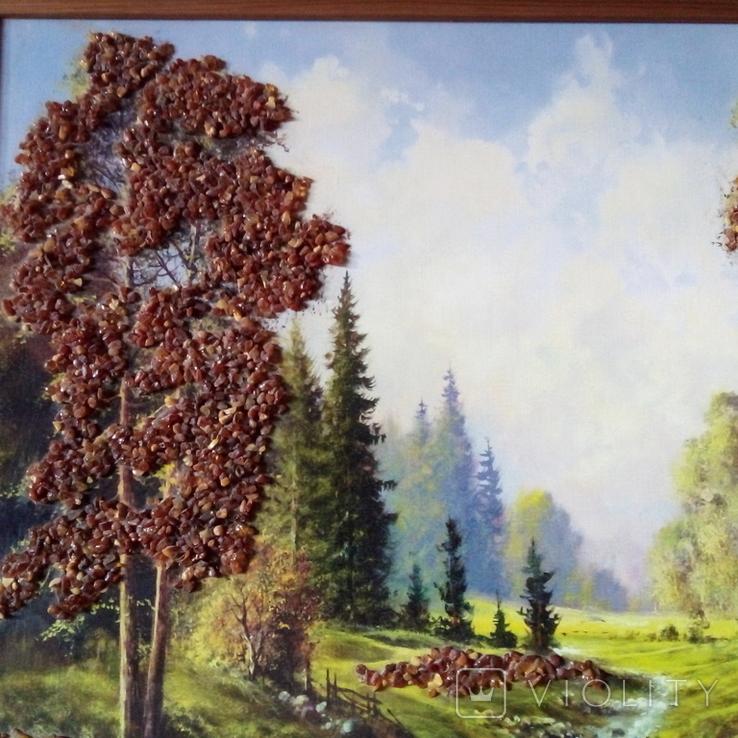 Картина с использованием натурального янтаря, фото №11