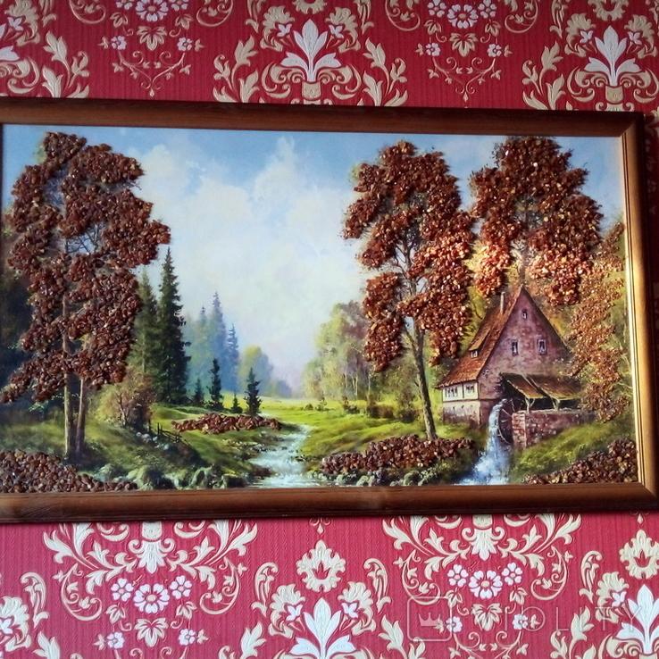 Картина с использованием натурального янтаря, фото №12