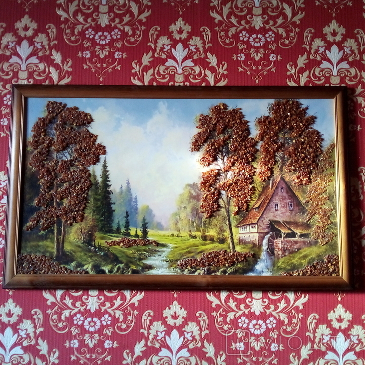 Картина с использованием натурального янтаря, фото №2