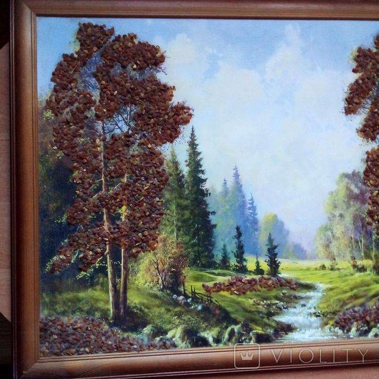 Картина с использованием натурального янтаря, фото №13